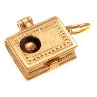 9ct Gold Bookworm Charm