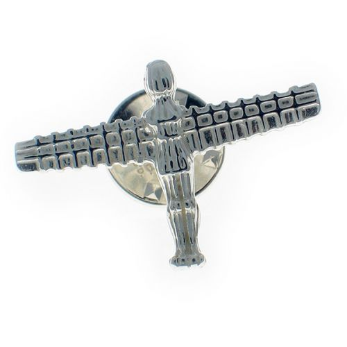 Angel of the North Sterling Silver Lapel Pin