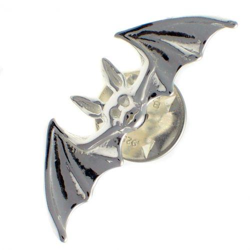 Bat Sterling 925 Silver Lapel Pin