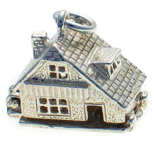 Chalet house - sterling silver charm