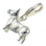 Corgi Dog Sterling Silver Charm