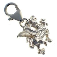 Dragon Welsh Silver Charm