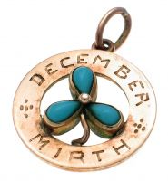 9ct Gold Turquoise Birth Pendant