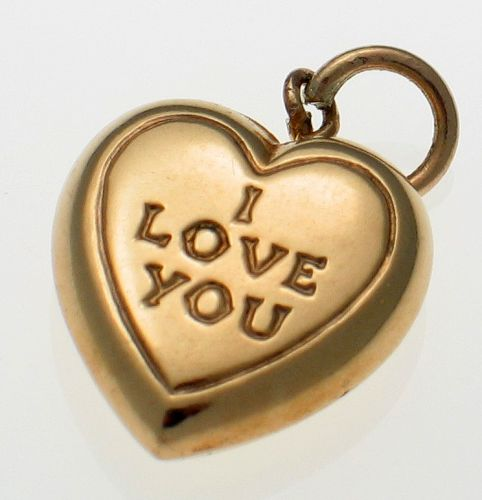 9ct Gold Love Heart Charm