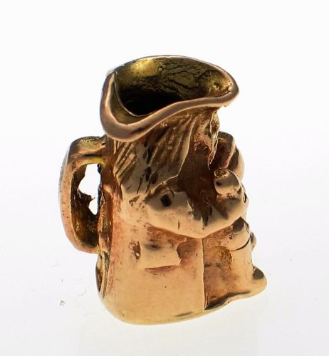 9ct Gold Toby Jug Charm