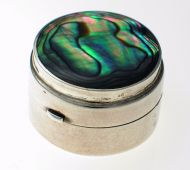Pill box Silver & Pau shell