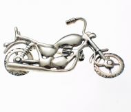 Motorbike Chopper Brooch Sterling Silver