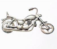 Motorbike Chopper Brooch Sterling Silver