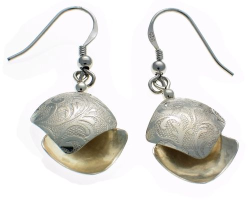 Earrings Embossed Design