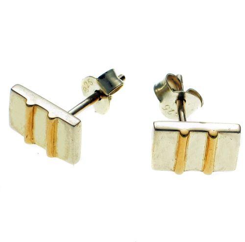 Earrings silver & gold