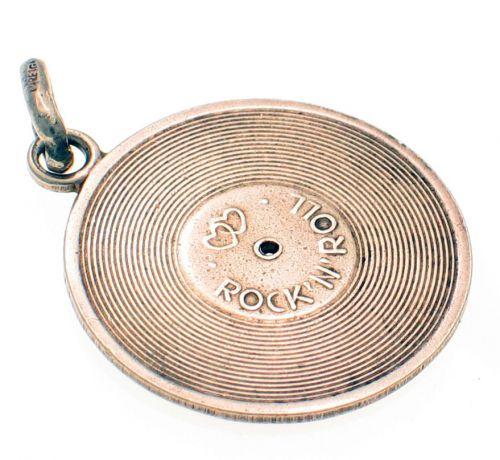 Record Disc Rock Calypso Silver Charm