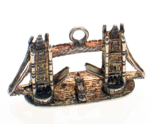 Tower Bridge Vintage Silver Charm
