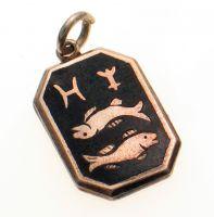 Pisces Star Signe Vintage Silver Charm