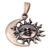 Sun & Moon Silver Pendant