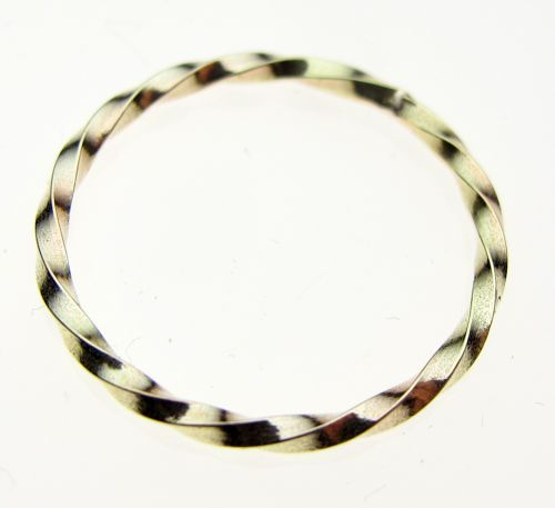 9ct Gold Square Rope Twist Stacking Stacker Guard Ring. Sizes H to P. Handmade by Welded Bliss