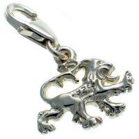 Lion Passant Silver Charm