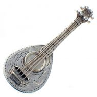 Brooch Mandolin Sterling Silver