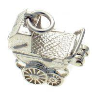 Pram sterling Silver Charm