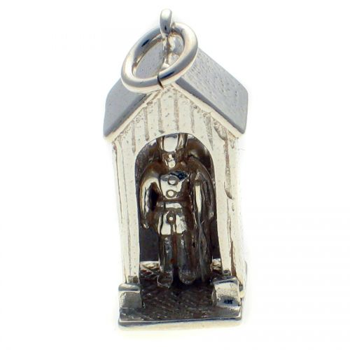 Sentry Box with Guard Silver Charm