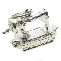 Sewing Machine Silver Charm