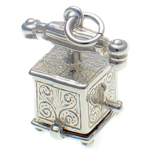 Telephone Silver Charm