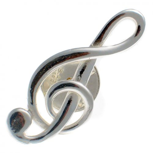 Treble Clef Lapel Pin Brooch