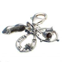 Wedding Charm 3 Part Silver