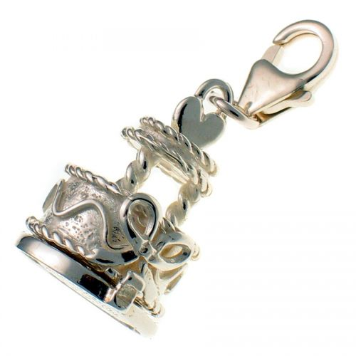 Sterling 925 Silver Wedding Cake Charm