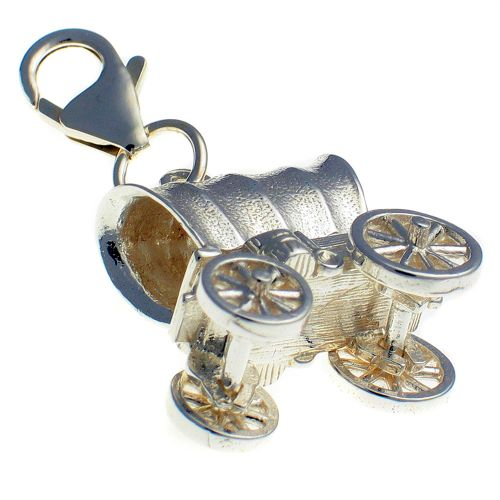 Covered Wagon Large Charm Pendant