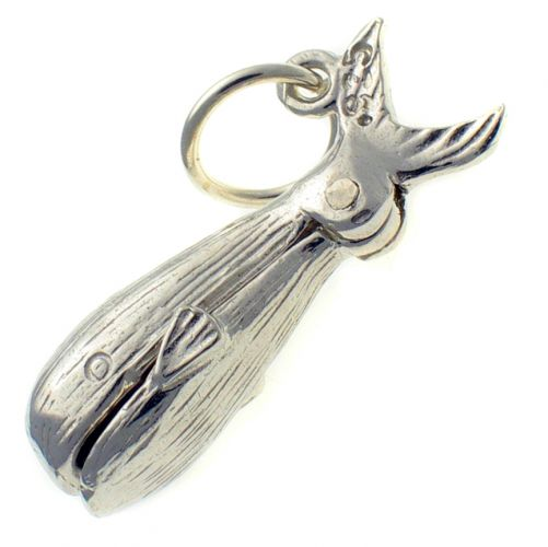 Whale sterling silver charm