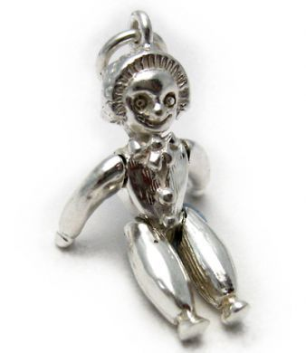 Andy Pandy Doll Silver Charm