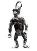 Large Ape Silver Charm Pendant