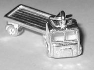 Sterling Silver Articulated Lorry Charm