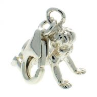 Baby crawling Sterling Silver Charm