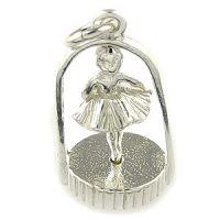 Ballerina silver charm