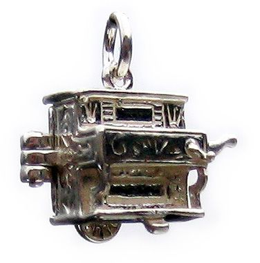 Barrel Organ Sterling Silver Charm