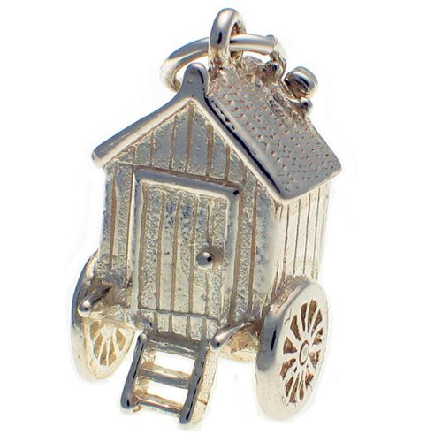 Bathing Carriage Sterling 925 Silver Charm