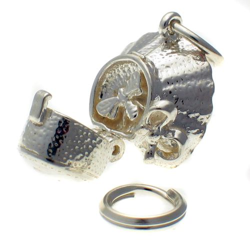Bee in Bonnet Silver Charm
