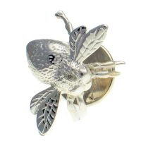 Bee Lapel Pin Sterling Silver