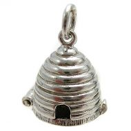 Beehive Silver Charm
