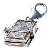 Bible silver charm