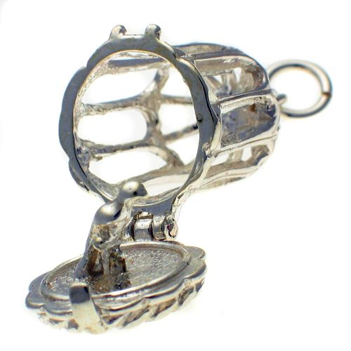 Birdcage Sterling Silver Charm