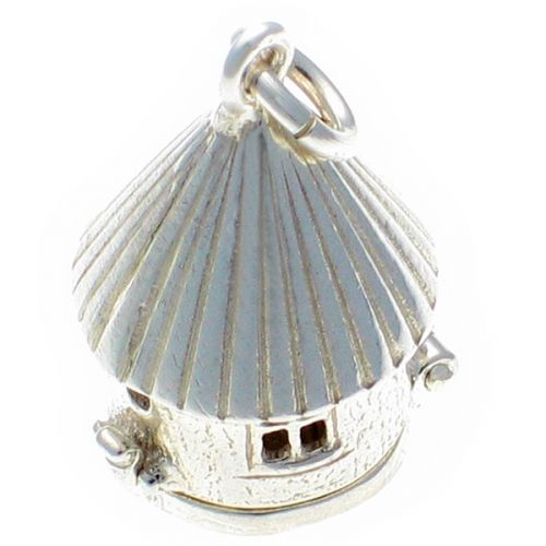 Bird House Sterling Silver Charm