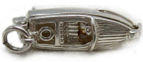 Boat Motor Launch Sterling Silver Charm