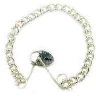 Sterling Silver Charm Bracelet Curb Link