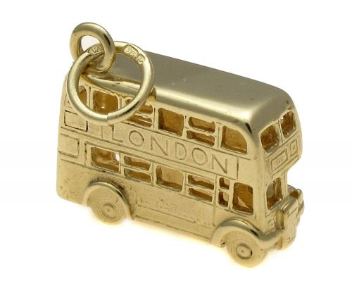 9ct Solid Gold Routemaster London Bus Charm