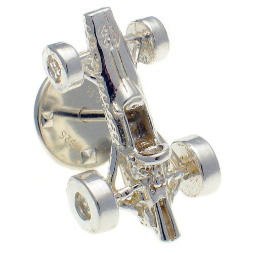 Car Formula One Racing Sterling 925 Silver Lapel Pin