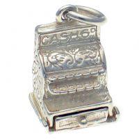 Cash Till Register Sterling Silver Charm