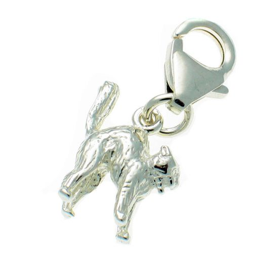 Cat 'small with arched back' Silver Charm