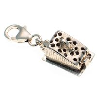 Cheese Dish Sterling Silver Charm